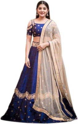Ap Enterprise Velvet Embroidered Semi-stitched Salwar Suit Dupatta Material