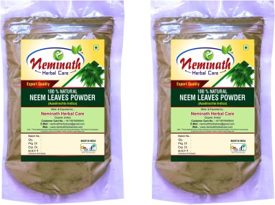 Neminath Herbal Care 100% Natural Neem Leaves (Azadirachta Indica) Powder For Pimple Free Clear Skin Naturally (Pack Of 2)(200 Grams)(200 g) Flipkart
