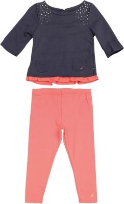Nautica Girls Casual Top Track Pants(Dark Blue)