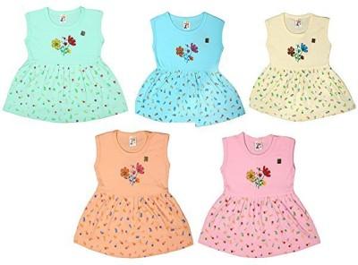 Kavin Girls Midi/Knee Length Casual Dress(Multicolor, Sleeveless)