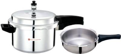 Vijayalakshmi combo 5+jumbo pressure pan 5 Pressure Cooker & Pressure Pan(Aluminium)