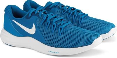 Nike NIKE LUNAR APPARENT Running Shoes For Men(Blue) 1