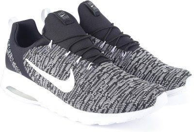 Nike NIKE AIR MAX MOTION RACER Sneakers For Men(Black, White) 1