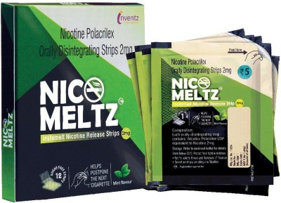Nicomeltz Instamelt Nicotine Release Strips - 2 Mg ( 10X12 Strips ) Mint Flavour 24 hour patch Smoking Patch(Pack of 12)