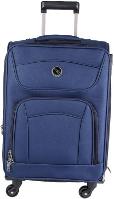 emblem SIGMA 24 INCH BLUE Expandable Check in Luggage   24 inch emblem Suitcases
