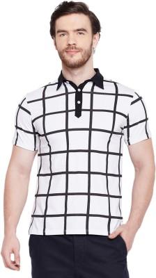 Le Bourgeois Printed Men Polo Neck White, Black T-Shirt