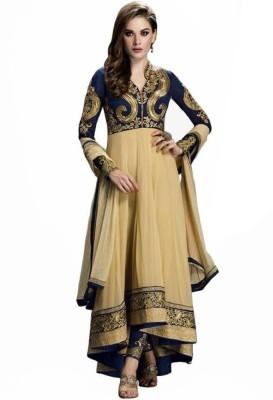 RIYAN ENTERPRISE Georgette Embroidered Semi-stitched Salwar Suit Dupatta Material