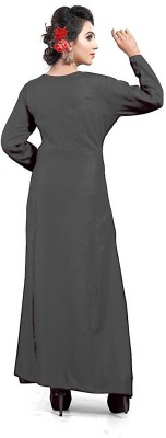 jsv fashion Women Solid Gown Kurta(Grey)