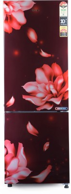 Haier 256 L Frost Free Double Door Bottom Mount 4 Star Refrigerator(Red, HRB-2764PRJ-E)