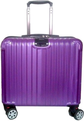Di Grazia 18 inch Business Class Boarding Rolling Laptop Cabin Case Luggage Travel Trolley Box With 4 Wheels Expandable Cabin Luggage   18 inch Purple