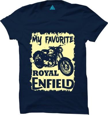 Riddhi Siddhi Graphics Printed Men Round Neck Blue T-Shirt