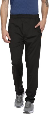 Sports 52 Wear Self Design Men Black Track Pants