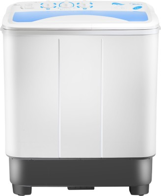 Midea 6.5 kg Semi Automatic Top Load Washing Machine White(MWMSA065A02)