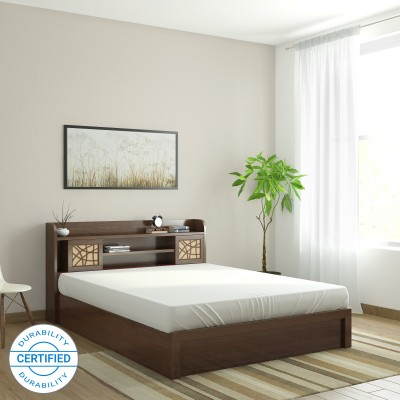 Spacewood Mayflower Engineered Wood Queen Box Bed(Finish Color -  Brown)