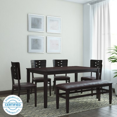 From ₹11,999 @home by Nilkamal Fern Solid Wood 6 Seater Dining Set