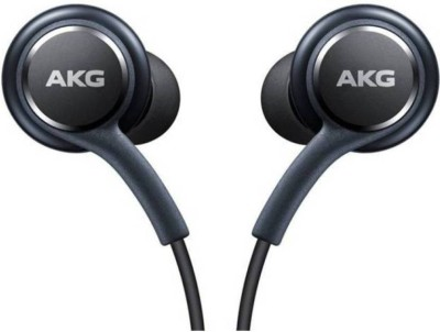 NeroEdge Official Galaxy S8/S8+ In-Ear Headphones EO-IG955BSEGWW, Fone-Stuff Tuned by AKG, Remote + Mic Hands free Earphones Wired Headset with Mic(Black, In the Ear)