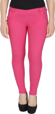 Rzlecort Pink Jegging Solid Rzlecort Women's Jeggings