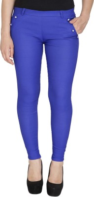 Rzlecort Blue Jegging Solid Rzlecort Women's Jeggings