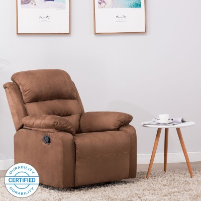 Perfect Homes by Flipkart Wayne Single Seater Fabric Recliner(Finish Color - Brown)