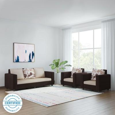 Bharat Lifestyle Nano Fabric 3 + 1 + 1 Cream Brown Sofa Set