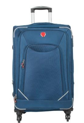 32c73b3ea 43% OFF on emblem 24 INCH BLUE Expandable Check-in Luggage - 24 inch(Blue)  on Flipkart | PaisaWapas.com