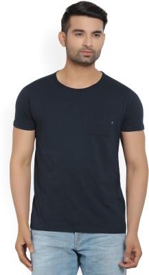 Scotch & Soda Solid Men Round Neck Dark Blue T-Shirt