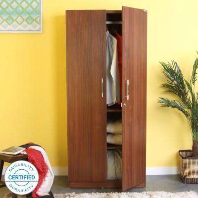 Spacewood Optima Engineered Wood 2 Door Wardrobe(Finish Color - Walnut Rigato)