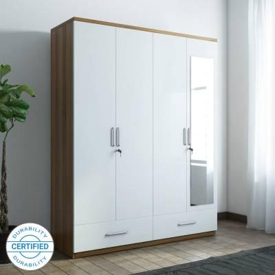 Spacewood Apex Engineered Wood 4 Door Wardrobe