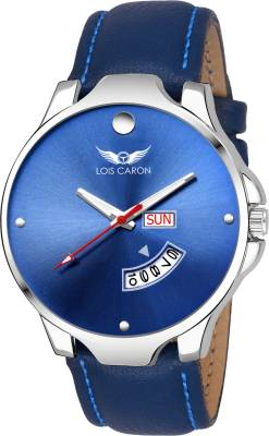 Lois Caron LCS-8068 BLUE DIAL DAY & DATE FUNCTIONING Watch  - For Men