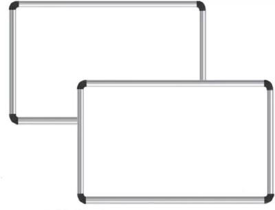 NECHAMS Non Magnetic 1.5ft x 2ft Whiteboards(Set of 2, White)