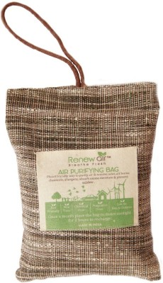 RENEWAIR Activated Coconut Charcoal Natural Air Purifier (200 Gram) Portable Room Air Purifier(Brown)  available at flipkart for Rs.650