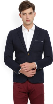 Hangup Solid Single Breasted Casual Men