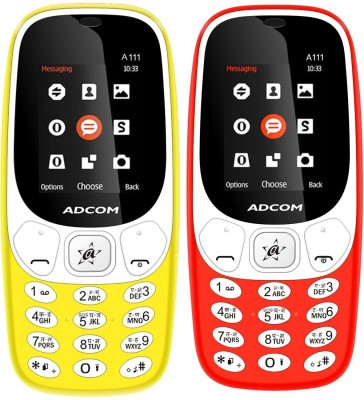 Adcom A111 Voice Changer Phone(Yellow and Red)
