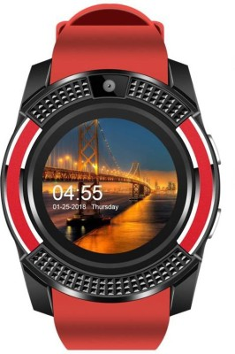 MOBILE LINK E S V 8 648 phone RED Smartwatch(Red Strap Free Size)