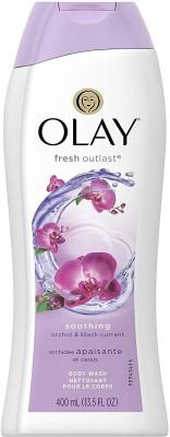 Olay Fresh Outlast Soothing Body Wash, Orchid & Black Currant - 400ml (13.5oz)(400 ml)