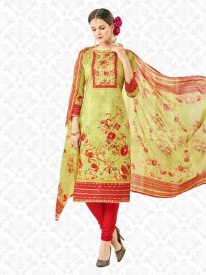 Divastri Polycotton Floral Print, Printed Salwar Suit Dupatta Material(Un-stitched)