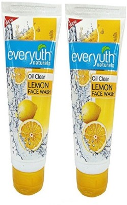 EVERYUTH NATURALS Oil Clear Lemon Face Wash 150gm (Pack of 2 PC) Face Wash(300 g)