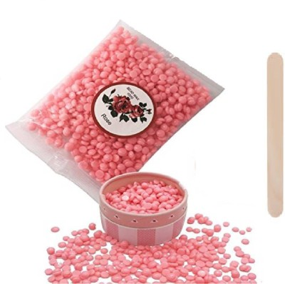 Natural 200gm rose pink hard wax beans depilatory painless stripless wax Wax(200 g)