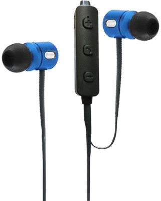 BJOS Wireless Earphone Bluetooth Headset with Mic(Blue, Black, In the Ear)