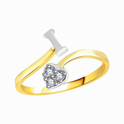 VK Jewels Love forever heart Alloy Cubic Zirconia 18K Yellow Gold Plated Ring