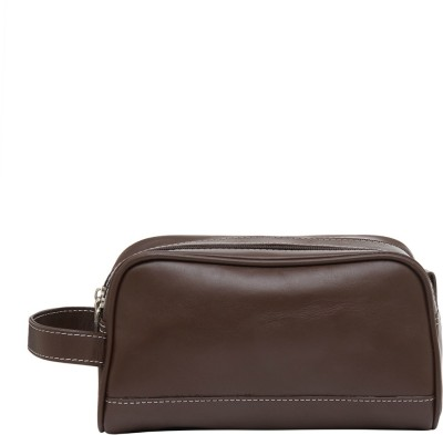 Leather World Trendy Travel Toiletry Kit Brown