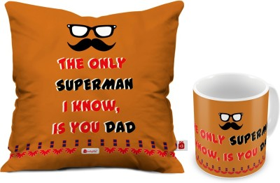73 OFF On Indigifts Fathers Birthday Gift For Papa Dad Gifts Parents Anniversary Mom Superman Quote Cushion