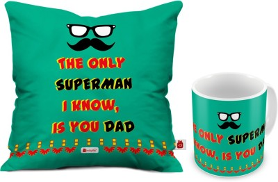 70 OFF On Indigifts Fathers Birthday Gift For Papa Day Gifts Dad Anniversary Mom Superman Quote Cushion