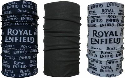 Royal Enfield Men's & Women's Printed, Solid, Printed Bandana(Pack of 3)