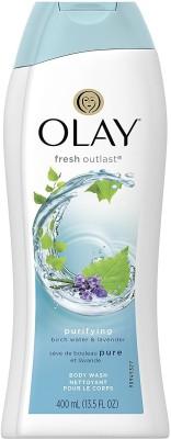Olay Fresh Outlast Purifiying Body Wash, Birch Water & Lavender - 400ml (13.5oz)(400 ml)