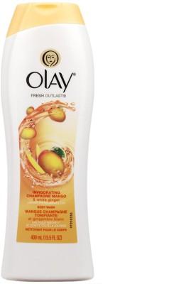 Olay Fresh Outlast Invigorating Body Wash, Champagne Mango & White Ginger - 400ml (13.5oz)(400 ml)