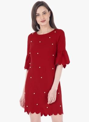 FabAlley Women Shift Red Dress