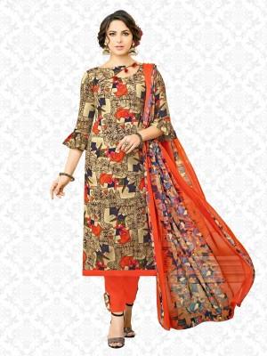 Divastri Cotton Rayon Blend Printed Salwar Suit Material(Unstitched) at flipkart