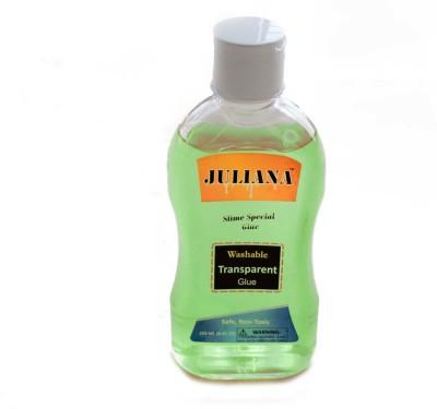 Juliana Transparent Green Colour School glue 8.45 OZ or 250 ml (Slime special) Glue(250 ml)