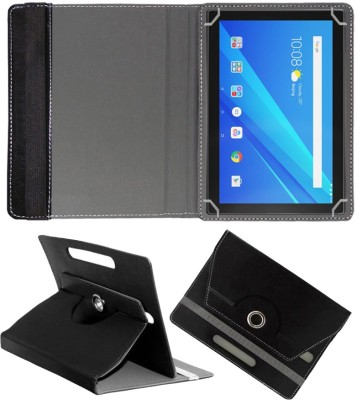 Fastway Flip Cover for Lenovo Tab 4 10.1 inch(Black, Cases with Holder, Artificial Leather)